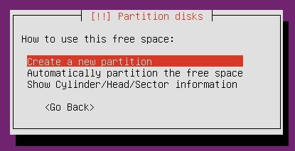Create a new partition